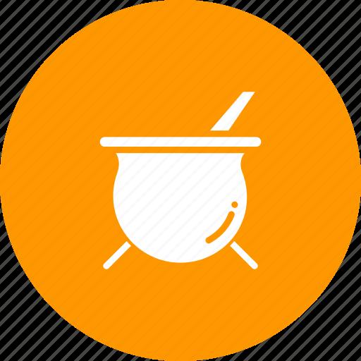 cauldron, cook, kitchen, pot, soup, stew icon