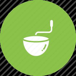 bowl, coffee, grind, kitchen, mix, mortar icon