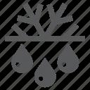 defrosting, drop, freezing, rain, snow, snowflake, water icon