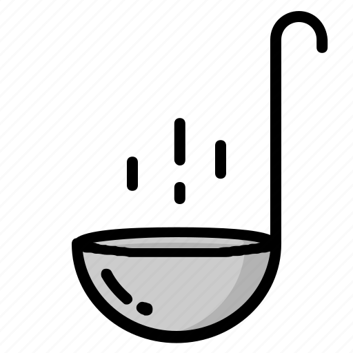 cooking, food, kitchen, ladle, soup, spoon, tablewere icon