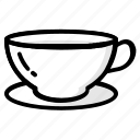 coffee, cup, drink, glass, kitchen, tablewere, tea icon