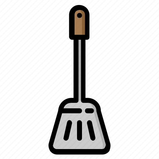 cooking, food, frying, kitchen, meal, spatula, tablewere icon