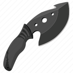 attack, danger, hunt, hunting knife, knife, melee, weapon icon