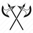 axe, battle, blade, medieval, metal, sharp, weapon icon