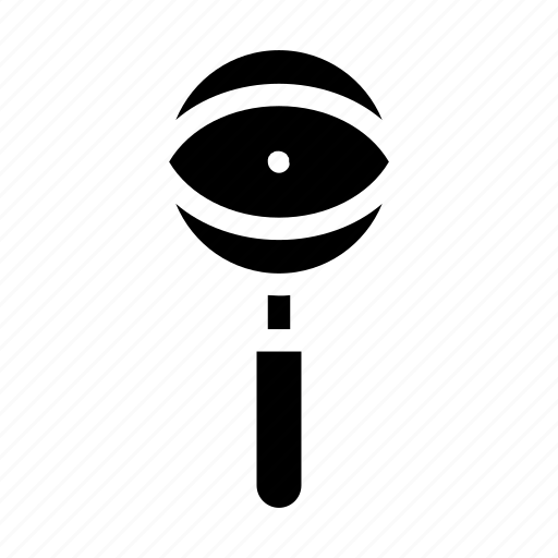 detectives, education, eye, investigation, magnifier, magnifying glass, observation icon