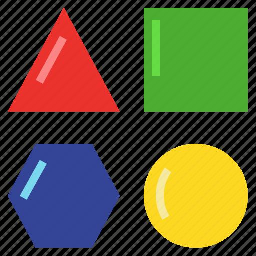 Differentiate, discriminate, distinguish, geometry, polygon, shape icon - Download on Iconfinder