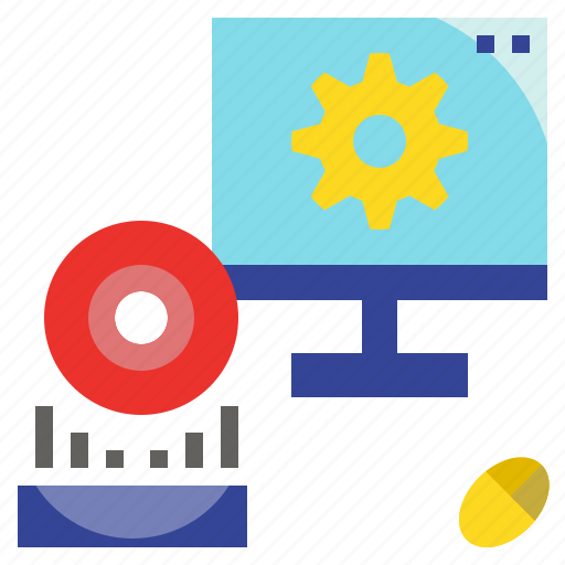 computer, hardware, process, program, software, system icon