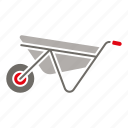 construction, equipment, industry, tool, vehicle, wheelbarrow icon