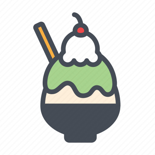 bingsoo, dessert, ice, korean icon