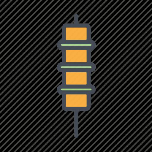 chicken skewer, dakkochi, kebab, korean, street food icon