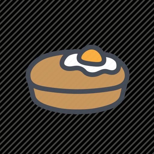 bread, egg, korean, street food icon
