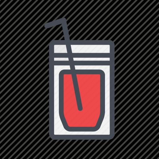 juice, juice bag, pack, street food icon