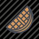 dessert, snack, street food, waffle icon