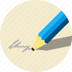 pencil, writing icon