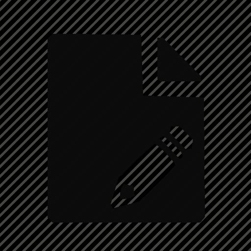 edit, modify, write icon