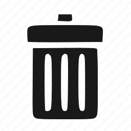 delete, recycle, remove, trash icon