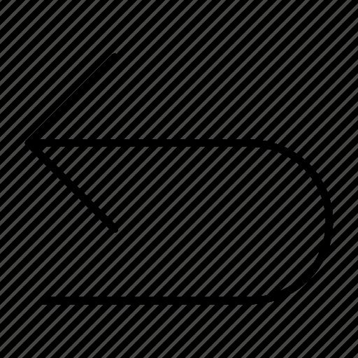 arrows, back, navigation, previous, undo icon
