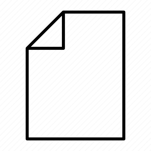 document, file, letter, new, paper icon