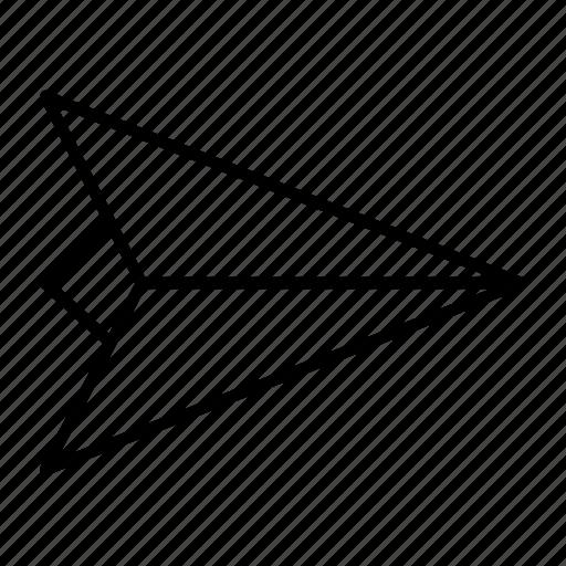 deliver, message, paper, plane, send icon