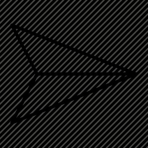 chat, deliver, paper, plane, send icon