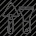 trowel, work, tool, instrument, cement, masonry, tools