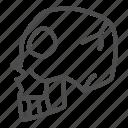 pirate, skull, skeleton, head, dead, bone, human