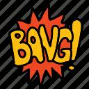 bang, banners, cartoon, comic, labels