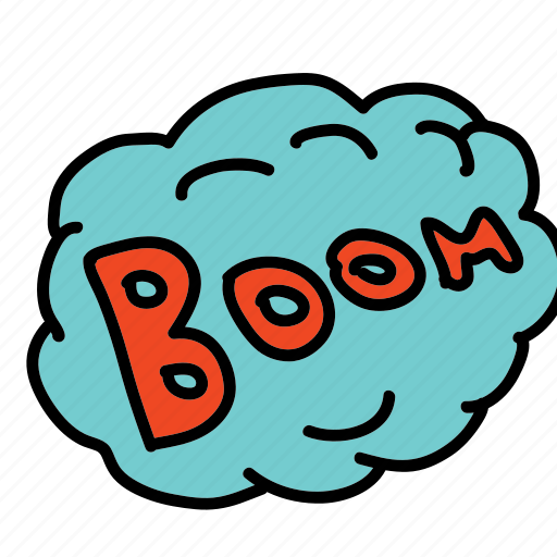 banners, boom, cartoon, comic, labels icon