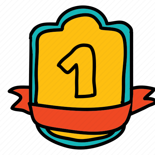 achievement, banners, first, label, labels, place, prize icon