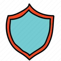 banner, banners, labels, like, protect, shield icon