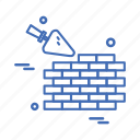 bricks, day, labor, labour, wall icon