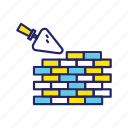 bricks, day, labor, labour, spade icon