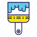 brush, day, labor, labour, paint icon