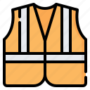 vest, jacket, life, reflective, construction, safety, protection