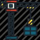 crane, construction, tools, hook, lift, industry