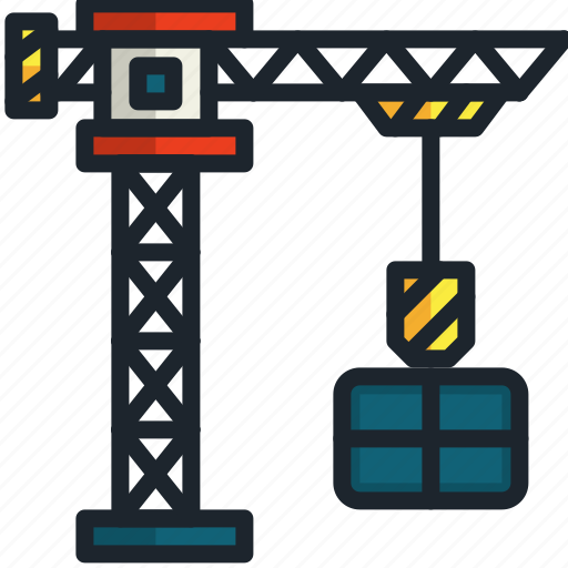 Crane, construction, tools, hook, lift, industry icon - Download on Iconfinder