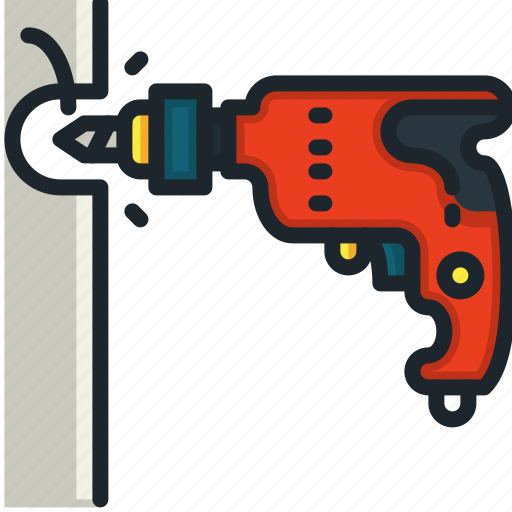 Drill, hammer, drilling, machine, tools, utensils, wood icon - Download on Iconfinder