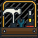 tools, box, repair, utensils, construction