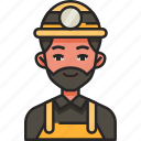 miner, mining, worker, avatar, man, mine, mining industry