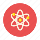 atom, biology, laboratory, labs, science icon