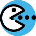 computer, eater, entertainment, game, pacman, play icon