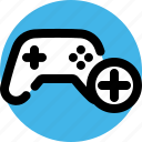 add, add player, console, game, play, player icon