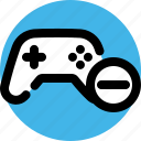 console, delete, game, play, player, remove player icon