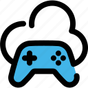 cloud, entertainment, game, play, storage icon