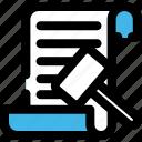 auction, auction hammer, bid, document, hammer, paper