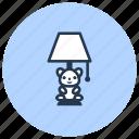 children, interior, lamp, light icon