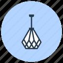 designer, interior, lamp, light icon