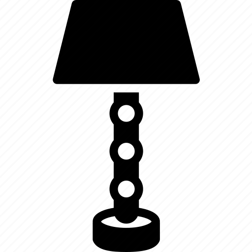 lamp, light, solid, table icon