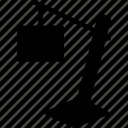 floor, lamp, light, solid icon