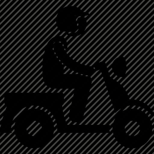 motor, motorbike, motorcycle, motorist, scooter, small icon